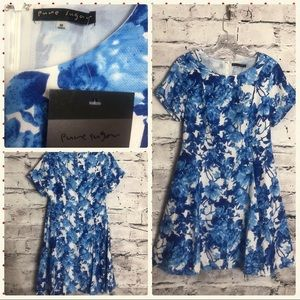 Pure Sugar Blue and White Floral Dress